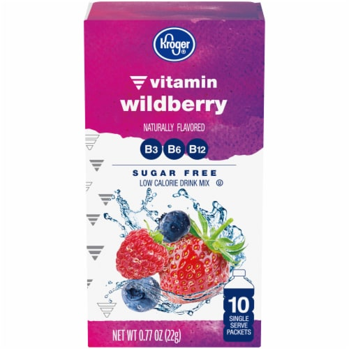 Kroger® Vitamin Wildberry Drink Mix Perspective: front