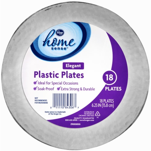 Kroger® Clear 6.25-Inch Snack Plates Perspective: front