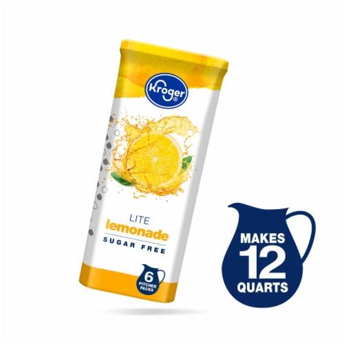 Kroger® Lite Lemonade Instant Drink Mix Packets Perspective: front