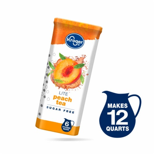 Kroger® Lite Peach Tea Drink Mix Perspective: front