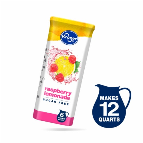 Kroger® Lite Raspberry Lemonade Instant Drink Mix Packets Perspective: front