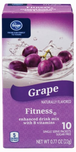 Kroger®  Grape Fitness Drink Mix Packets Perspective: front