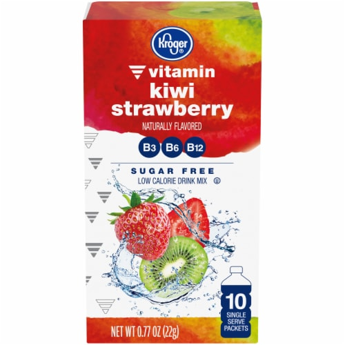 Kroger® Kiwi Strawberry Drink Mix Packets Perspective: front