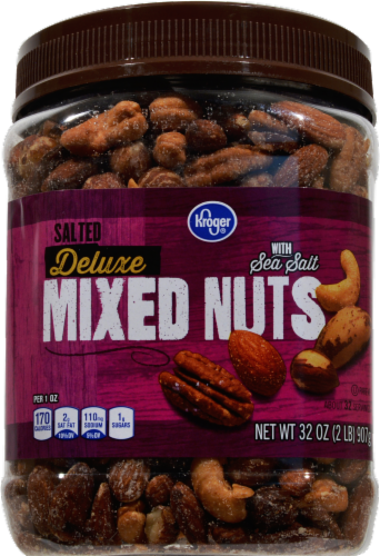 Kroger® Deluxe Sea Salt Mixed Nuts Perspective: front