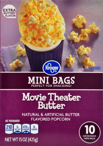 Kroger Microwave Popcorn Mini Bags Movie Theater Er Perspective Front
