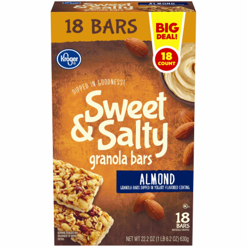 Kroger® Sweet & Salty Almond Granola Bars Perspective: front