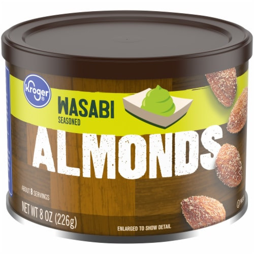 Kroger® Wasabi Seasoned Almonds Perspective: front