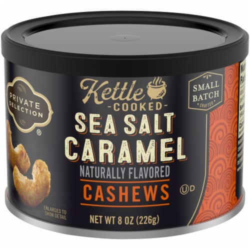 Private Selection® Kettle Cooked Sea Salt Caramel Cashews Perspective: front