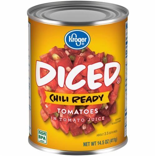 Kroger Chili Ready Diced Tomatoes Perspective: front