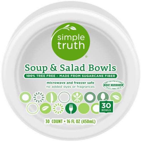Simple Truth® Soup & Salad Disposable Bowls Perspective: front