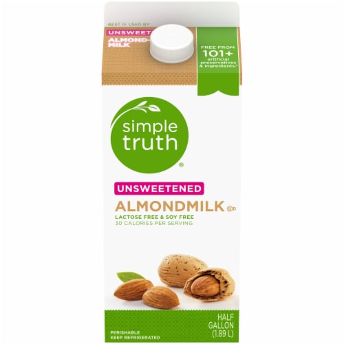 Simple Truth® Unsweetened Almondmilk Perspective: front