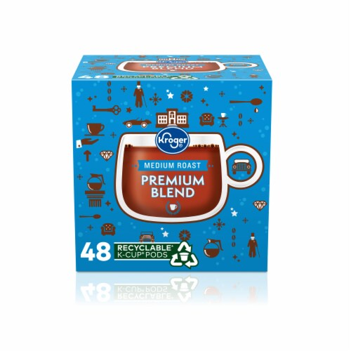 Kroger® Medium Roast Premium Blend Coffee K-Cup Pods Perspective: front