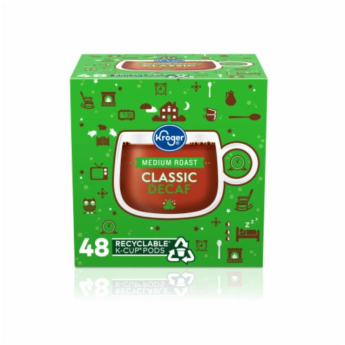 Kroger® Medium Roast Classic Decaf Coffee K-Cup Pods Perspective: front