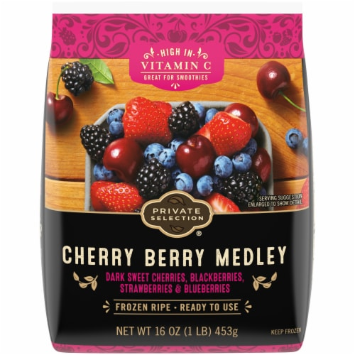 Private Selection® Cherry Berry Medley Frozen Fruit Perspective: front