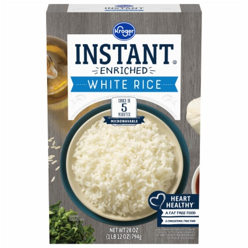 Kroger® Instant Microwaveable White Rice Perspective: front