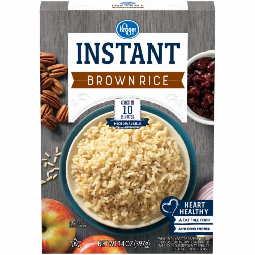 Kroger® Instant Microwaveable Brown Rice Perspective: front