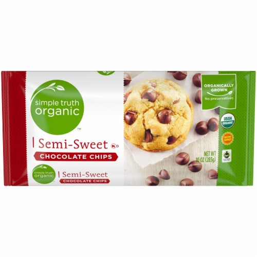 Simple Truth Organic™ Semi-Sweet Chocolate Chips Perspective: front