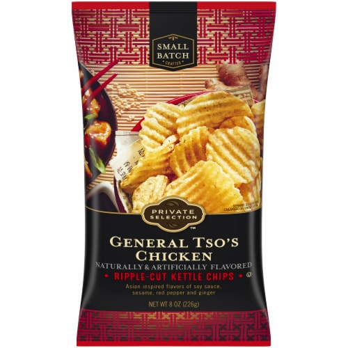 Private Selection™ General Tso's Chicken Ripple-Cut Kettle Chips Perspective: front