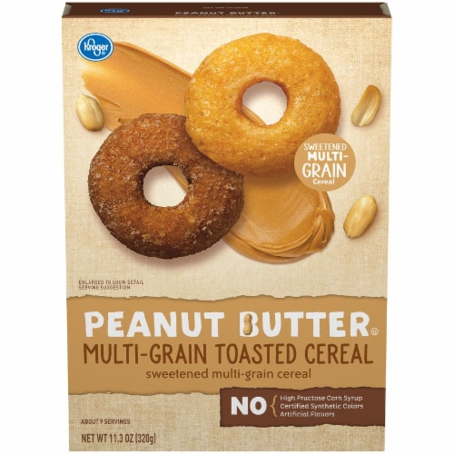 Kroger® Peanut Butter Multi-Grain Toasted Cereal Perspective: front