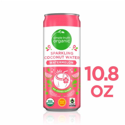 Simple Truth Organic™ Watermelon Sparkling Coconut Water Perspective: front