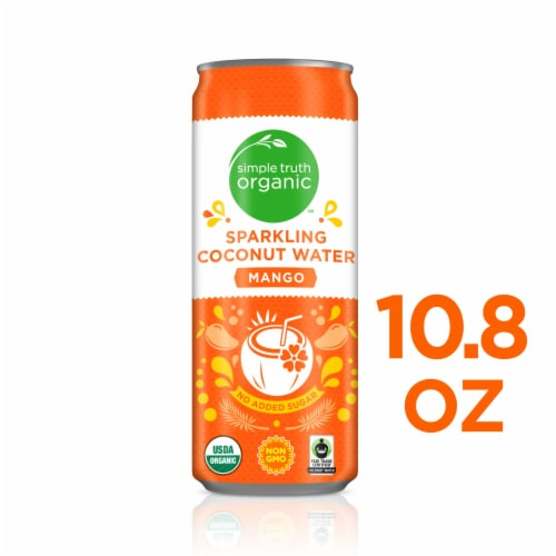Simple Truth Organic™ Mango Sparkling Coconut Water Perspective: front