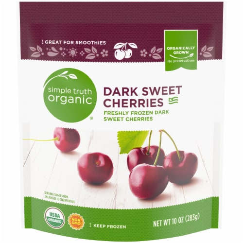 Simple Truth Organic™ Frozen Dark Sweet Cherries Perspective: front