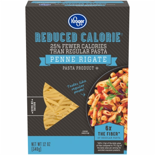 Kroger® Reduced Calorie Penne Rigate Perspective: front