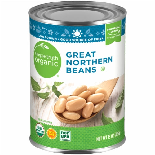 Simple Truth Organic® Great Northern Beans Perspective: front