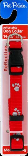 Pet Pride® Medium Red Adjustable Reflective Dog Collar Perspective: front
