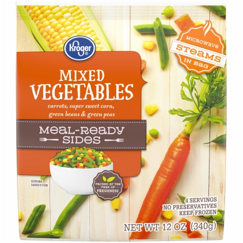 Kroger® Meal-Ready Sides Mixed Vegetables Perspective: front