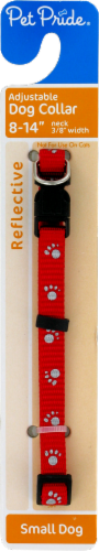 Pet Pride™ Adjustable Reflective Small Dog Collar Perspective: front