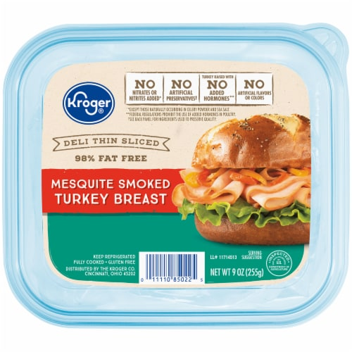 Kroger® Deli Thin Sliced Mesquite Smoked Turkey Breast Perspective: front