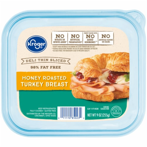 Kroger® Deli Thin Sliced Honey Roasted Turkey Breast Perspective: front