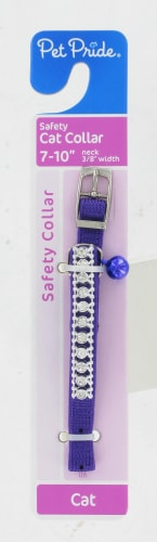 Pet Pride® Rhinestone Safety Cat Collar Perspective: front