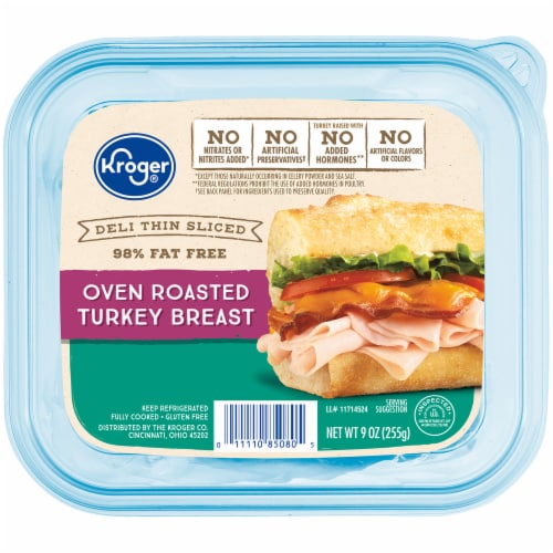 Kroger® Deli Thin Sliced Oven Roasted Turkey Breast Perspective: front
