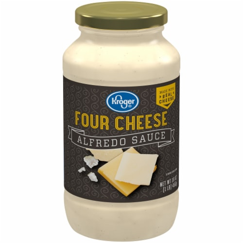 Kroger®  Four Cheese Alfredo Sauce Perspective: front