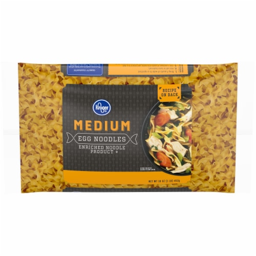 Kroger® Medium Egg Noodles Perspective: front