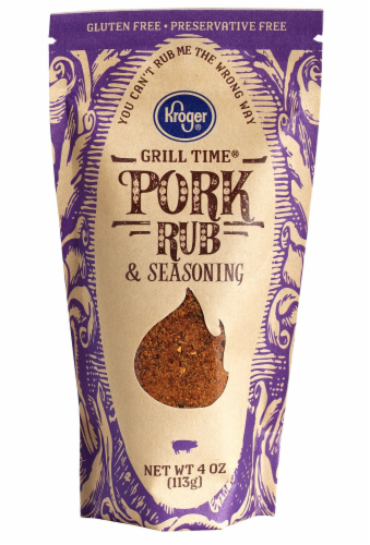 Kroger® Grill Time Pork Rub & Seasoning Perspective: front