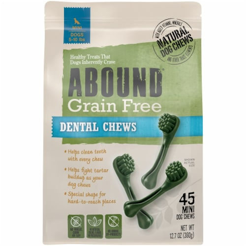 ABOUND® Grain Free Dental Chews for Mini Dogs Perspective: front