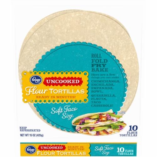 Kroger® Uncooked Flour Tortillas Perspective: front
