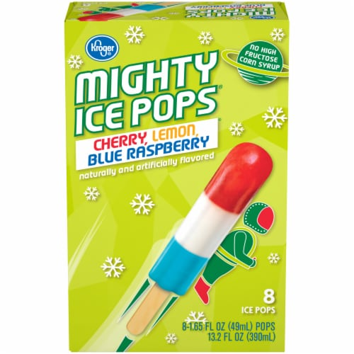 Kroger® Cherry Lemon Blue Raspberry Flavor Mighty Pops Perspective: front