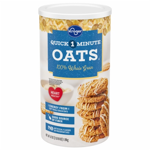 Kroger® Quick 1-Minute 100% Whole Grain Oats Perspective: front