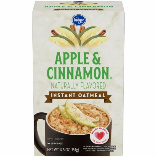 Kroger® Apples & Cinnamon Instant Oatmeal Perspective: front