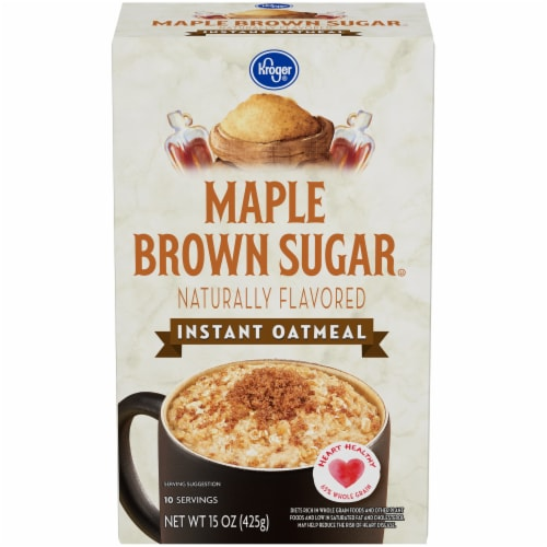 Kroger® Maple & Brown Sugar Instant Oatmeal Perspective: front