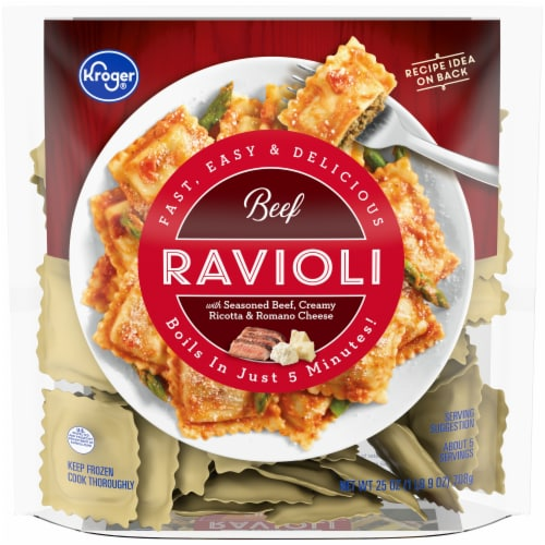 Kroger® Beef Ravioli Perspective: front