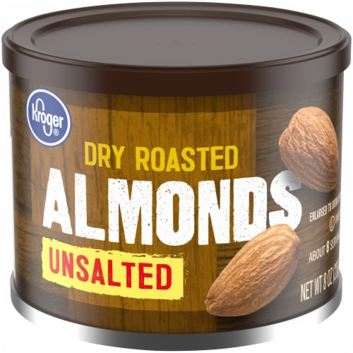 Kroger® Unsalted Dry Roasted Almonds Perspective: front