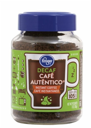 Kroger Decaf Cafe Authentico Instant Coffee Perspective: front