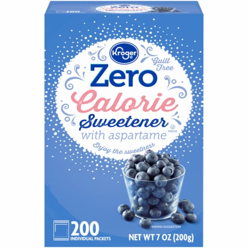 Kroger® Zero Calorie Sweetener with Aspartame Packets 200 Count Perspective: front