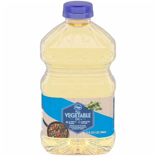 Kroger Pure Vegetable Oil Perspective: front