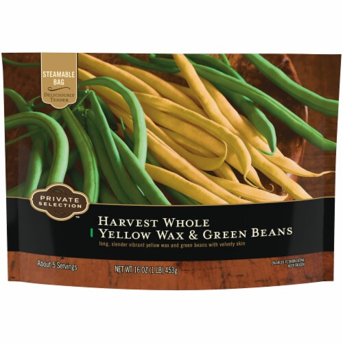 Private Selection™ Harvest Whole Yellow Wax & Green Beans Perspective: front